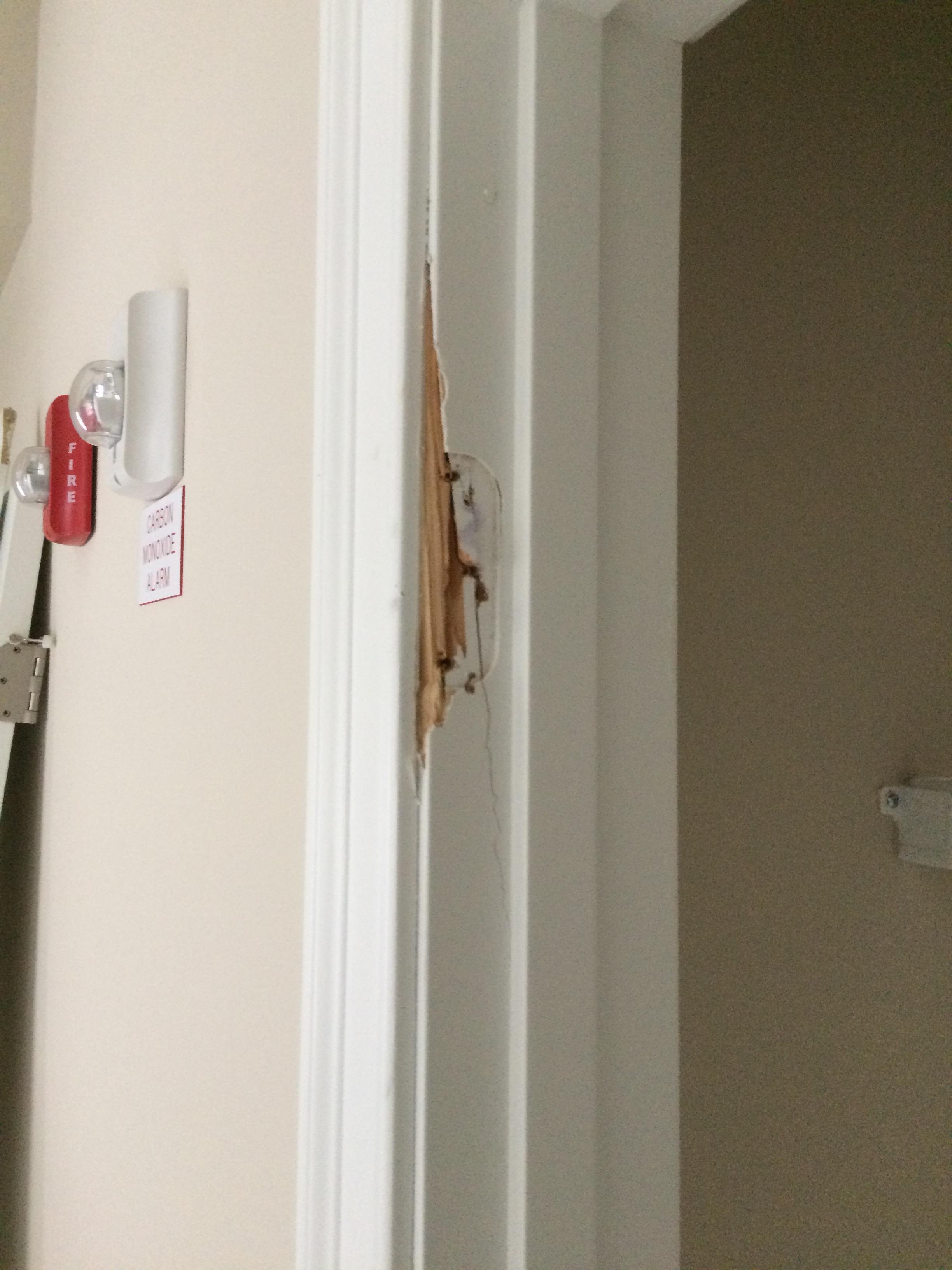 replacing one side of a broken door jam. & replacing one side of a broken door jam. \u2013 Frank Canada